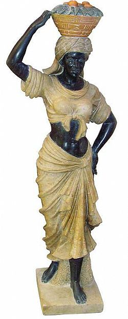 LA DONNA D'AFRICA H180cm - ΑΓΑΛΜΑΤΑ ΑΠΟ ΦΥΣΙΚΟ ΜΑΡΜΑΡΟ / STATUE OF A WOMAN MADE OF MARBLE